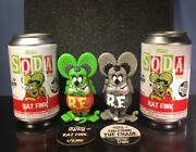 Funko Soda Rat Fink - Grey Chase And Common Set Of 2 - International Can Edition