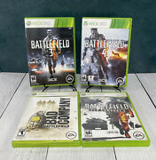 Battlefield Lot Bad Company 1 And 2battlefield 3 And Battlefield 4 Xbox 360