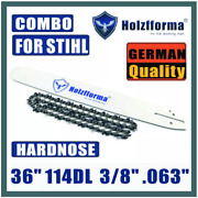 36 3/8 .063 114dl Guide Bar Saw Chain Compatible With Stihl Ms440 Ms441 Ms460