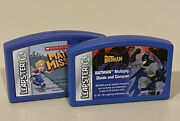 Lot Of 2 Leap Frog Leapster Game Cartridges - Math Missions And Batman