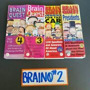 Brain Quest Questions And Answers Lot Of 4 Ages 7-12 3rd 4th Grade Free Shipping