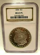 1898 Morgan Silver Dollar Ngc Certified Graded Ms - 63 Pl Proof Like