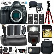 Canon Eos 5d Mark Iv Dslr Camera Body Only + Professional Battery Grip + Conde