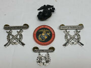 Marine Corps Rifle Expert Pistol Expert Globe Anchor Challenge Coin Lot Free S/h