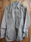 Vintage Wwii Us Army Air Corps Officer Khaki Shirt With Patch And Epaulets B-24