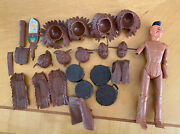 """Rare Marx 1960 Fighting Eagle And Geronimo Fort Apache Fighters 12"""" Action Figure"""