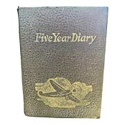 Antiques Ww2 1944 5 Year Diary With Plane Image On Front Weather For All Days