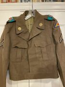 Rare Theater Made Dui Patches On Ike Jacket. German Made 7th Army Engineer