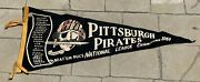 Vintage 1960 Pittsburgh Pirates National League Champions Pennant Clemente Groat