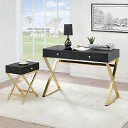 Multi-purpose 2 Drawers Strong Load Capacity Secretary Table For Home Office