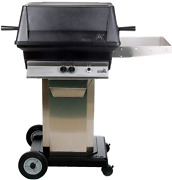 Pgs A30 Cast Aluminum Propane Gas Grill On Stainless Steel Portable Pedestal Bas