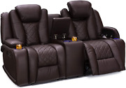 Seatcraft Europa Home Theater Seating - Leather Gel - Power Recline - Adjustable