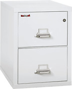 Fireking Fireproof Vertical File Cabinet 2 Letter Sized Drawers Impact Resista
