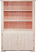 Montana Woodworks Homestead Collection Bookcase With Storage, Ready To Finish