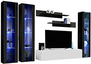 Meble Furniture And Rugs Fly C 30tv Wall Mounted Floating Modern Entertainment Cen