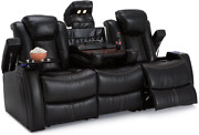 Seatcraft Omega Home Theater Seating - Leather Gel - Power Recline - Power Headr