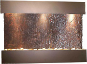 Reflection Creek Water Feature With Antique Bronze Trim And Square Edges Natura