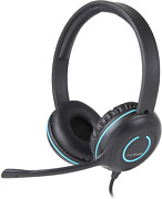 Cyber Acoustics Usb Stereo Headset With Headphones And Noise Cancelling Micropho