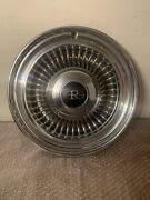 Vintage 1960andrsquos Oem Buick Riviera 15andrdquo Hubcap Wheel Cover Free Shipping