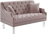 Meridian Furniture Roxy Collection Modern | Contemporary Velvet Upholstered Sofa
