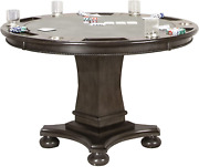 Sunset Trading Vegas Dining And Poker Table 2 In 1 Game Gray/black/off-white