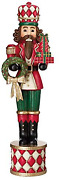 Classic Wood-look Life-size 6' Christmas Holiday Nutcracker Toy Soldiers