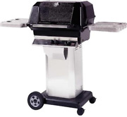 Mhp Gas Grills Wnk4 Natural Gas Grill W/ Stainless Grids On Stainless Cart