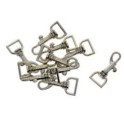 10 Sets Metal D Ring Lobster Clasps Swivel Clips Snap Hook Key Chain Diy