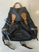 Black Medium Backpack With Receipt Great Condition