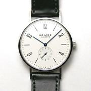 Nomos Tangente Hand-wound Small Seconds Stainless Steel White Menand039s Watch[u0920]