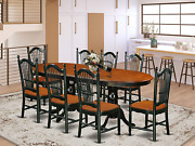 9 Piece Kitchen Table Set With One Parfait Dining Table And 8 Dining Room Chairs