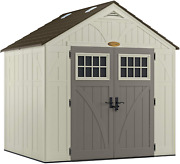 Suncast 8and039 X 7and039 Heavy-duty Resin Tremont Storage Shed Cream