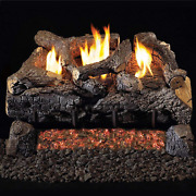 Peterson Real Fyre 30-inch Evening Fyre Charred Log Set With Vent-free Natural G