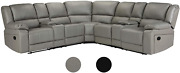 Classic And Traditional Bonded Leather Manual Reclining Corner Sectional Sofa W/