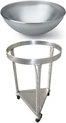 Heavy-duty All-stainless-steel Mobile Dolly Stand For 80-quart Vollrath Mixing B