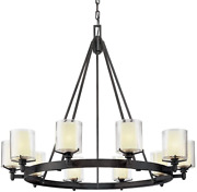 Troy Lighting F1710fr Arcadia - Ten Light Chandelier French Iron Finish With Cl