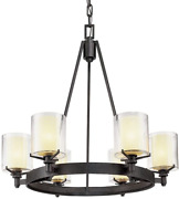 Troy Lighting F1716fr Arcadia - Six Light Chandelier French Iron Finish With Cl