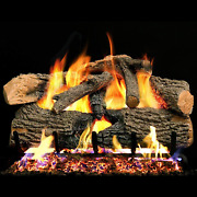 Peterson Real Fyre 24-inch Charred Evergreen Oak Gas Log Set With Vented Propane