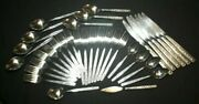 35 Pc Vintage Miracle Maid Usa Stainless Fernwood Flatware Floral Silverware Set