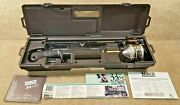 New Unused Vintage 1990 Zebco 4298 Rod And 33 Rhino Tough Reel With Carry Case