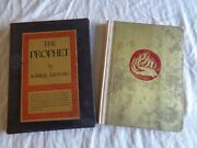 Rare Kahlil Gibran 1923 The Prophet Gold Cover Special 1st Edition Great Condit