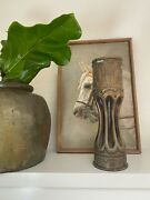 Trench Art Vase Ww Ii Brass Shell Usa 105 Mm. M14 Hammered Engraved