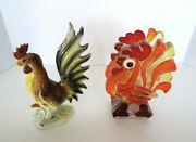 Vintage Rooster Collectibles Ceramic Figurine Acrylic Napkin Holder Mid Century