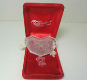 1985 Waterford Crystal Two Turtle Doves Christmas Ornament Free Shipping