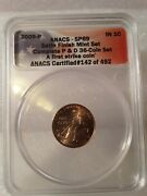 2009-p Anacs Sp69 Lincoln Cent Early Year Satin Finish First Strike