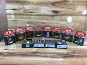Vintage New Old Stock 1993 Coca Cola Town Square Christmas Ornaments 12 Pieces