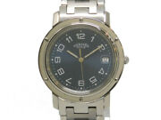 Hermes Clipper Cl6.710 Combination Ss / Ss Menand039s Boys Watch From Japan N0921