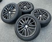 Set Of Four Used Oem Takeoff 19 Maserati Quattroporte Staggered Tires And Wheels