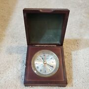 Vintage Victor Kullberg London Indian And Colonial Government Ship Clock Replica