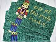 Tapestry Placemats Christmas Toy Soldier Nutcracker 3 Pc Treasured Traditions